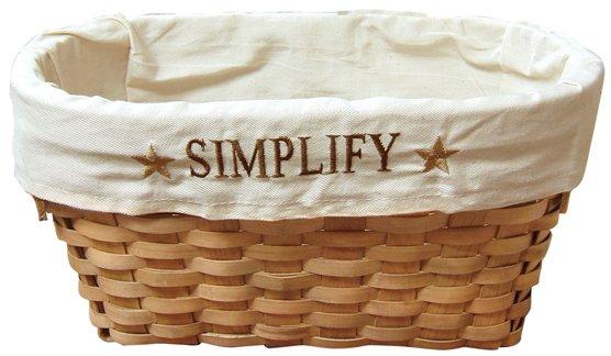 Fabric Lined Simplify Basket - CWIGJHE5245C