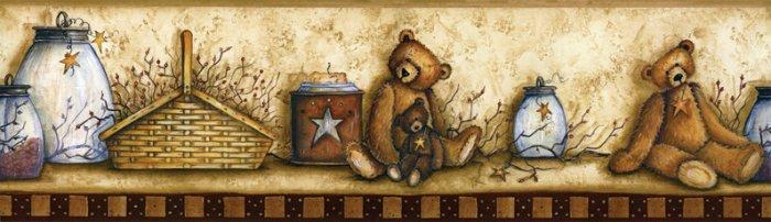 Baskets, Bears, & Jars Wall Border - CWIG86176