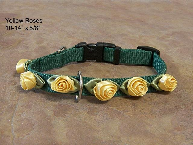 Yellow Roses on Green Collar - BTyrg