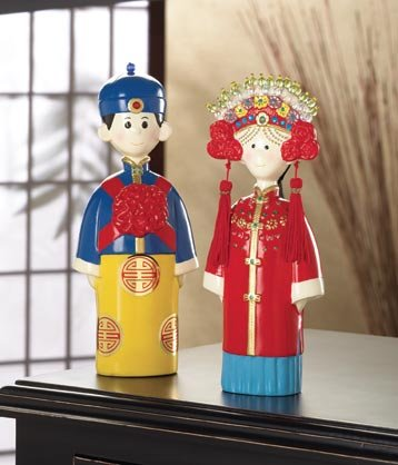 Chinese Wedding Couple Cake Topper - MM36347