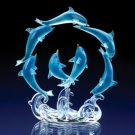 ROTATING BLUE DOLPHINS CIRCLE CAKE TOPPER - MM33939