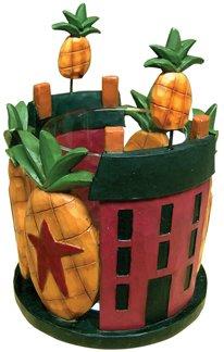 Pineapple & House Votive Holder  - CWG27725