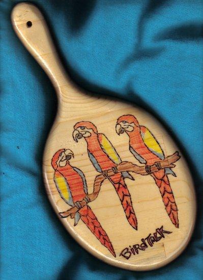 Parrot Design Wood Mirror - JWbm