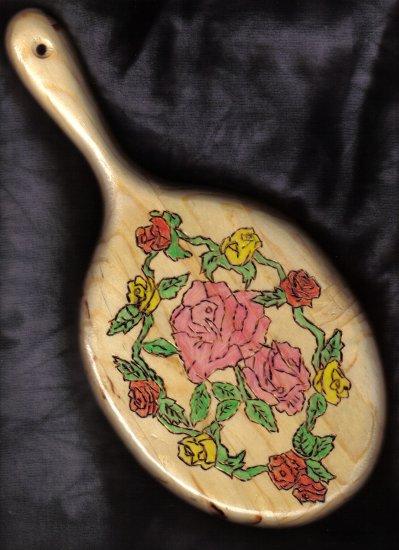 Pretty Floral Design Wood Mirror - JWfl
