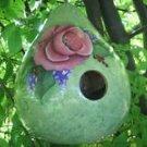 Wild Rose Gourd Birdhouse - PJwr