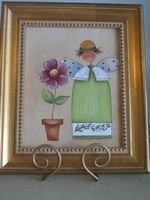 Handpainted Angel on Canvas - PJga
