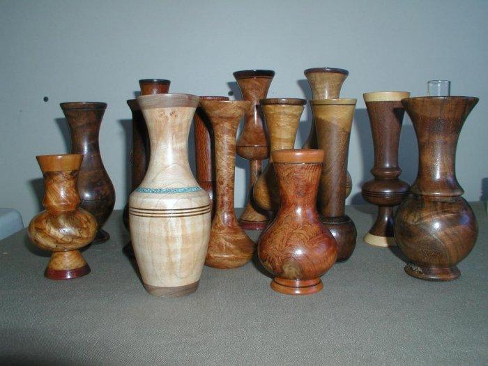 Wood Vase Collection - 14 Vases - WA14