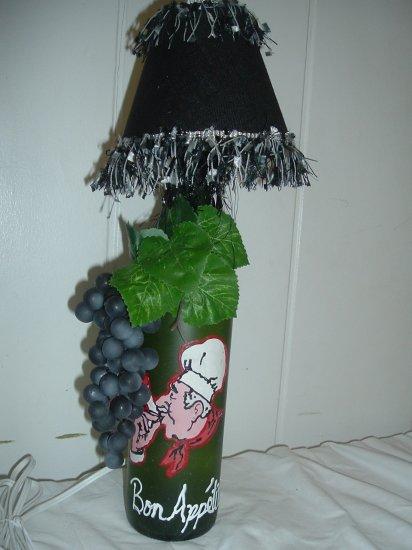 Bon Appetit Wine Bottle Lamp - PCba