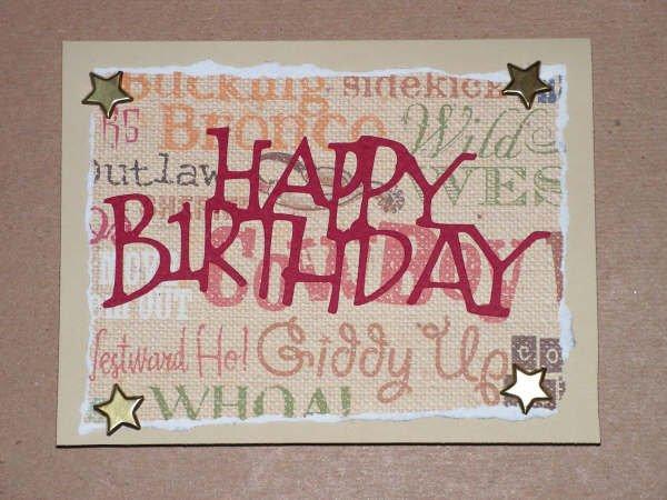 Happy Birthday Card Cowboy Style - CCcb