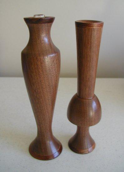 Pair of Mahogany Vases - WAma2