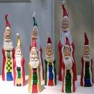 Whimsical Folk Art Father Christmas Figurines  - OC8.5