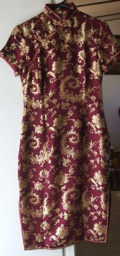 Chinese Pure Silk Mandarin Collar Dress - EAbr