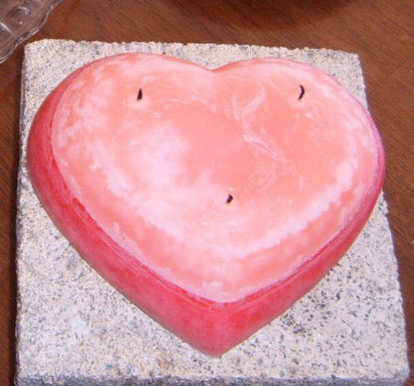 Heart Candle Cake - JShc