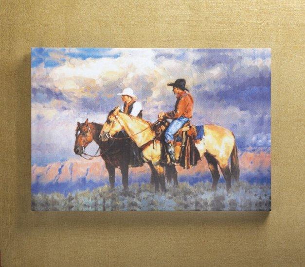 Cowboys Canvas Art Print - MMco