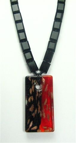 Japanese Inspired Glass Necklace - UEja