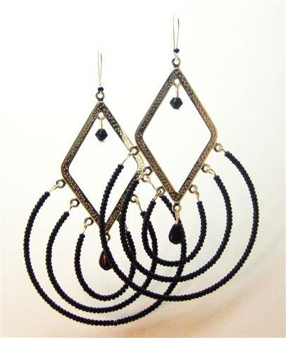 Black Cleopatra Earrings - UEbc