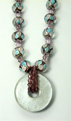 Lavender and Lace Necklace - UEll