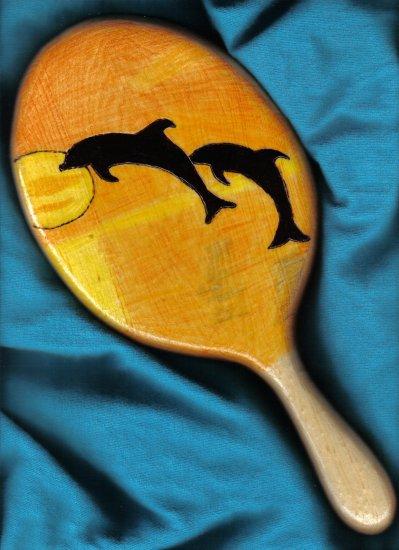Dolphin Sunset Handheld Mirror  - JWdo