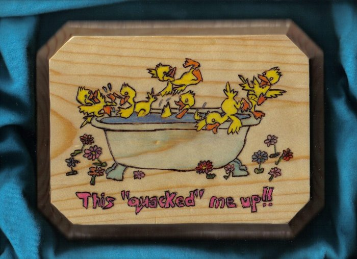 Ducks in a Tub Wall Plaque - JWdu