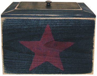 Black Wood Recipe Box - GK119