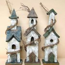 Rustic Bird House w/ Grapevine Accent - Asst Designs - GJHE1369
