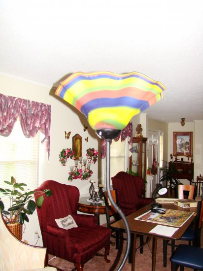Rainbow Hand-Blown Glass Floor Lamp - MXrl