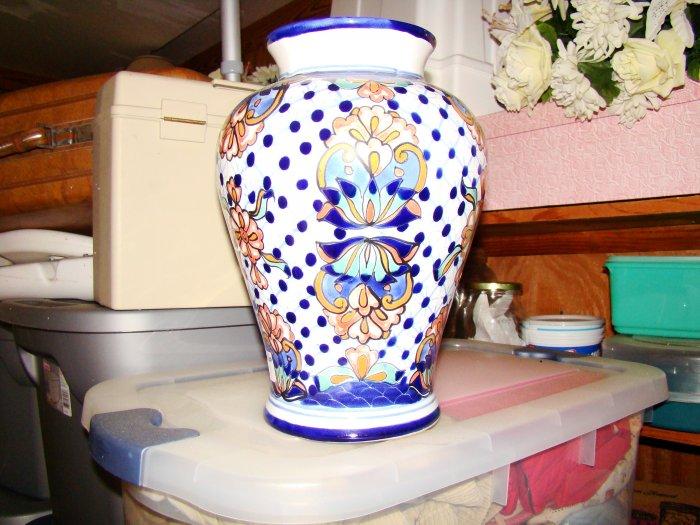 Gorgeous Flower Print Ceramic Vase - MXcv