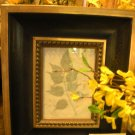Black & Gold Frame with  Pressed Leaf - CRbg