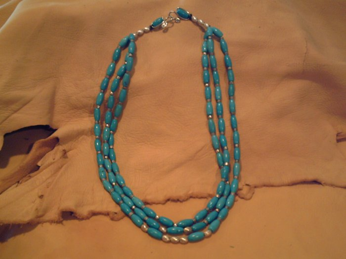 Turquoise 3 Strand Necklace - EMt3