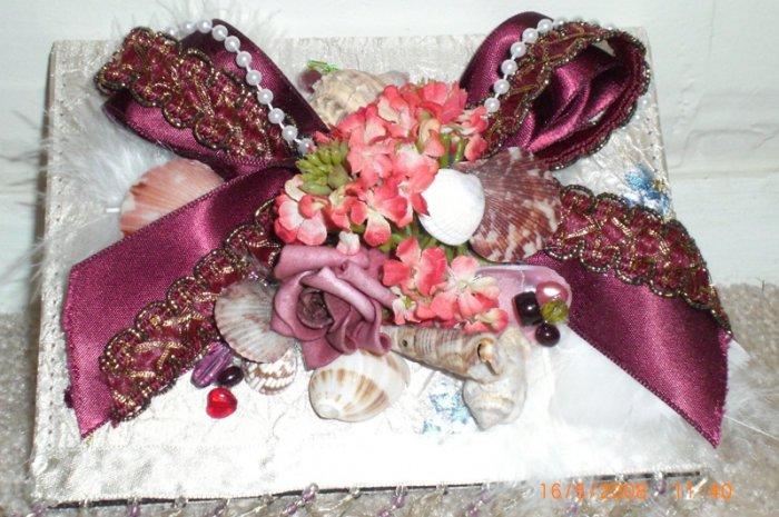 Photo Album Burgundy & Seashells - ADKbs
