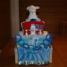 2 Tier Baby Boy Basket Diaper Cake - TH2tbb