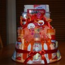3 Tier Red Baby Diaper Cake - TH3tr