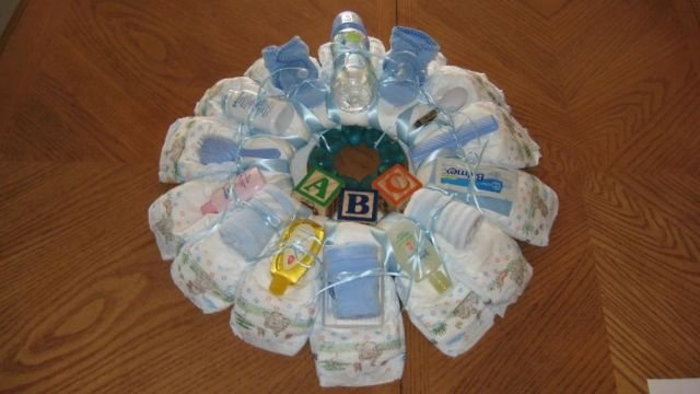Medium Boy Diaper Wreath  - THmbw