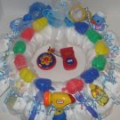 Small 1 Year Old Boy Diaper Wreath  - THsbw
