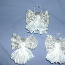 White & Silver Ribbon Angels(set of 3) - RAws