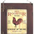 Red Rooster Coffee Sign - CWG22802
