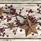 Rosehips and Stars  Wall Border - CWG71113