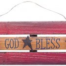 God Bless America Flag Plaque - CWGJHE5613