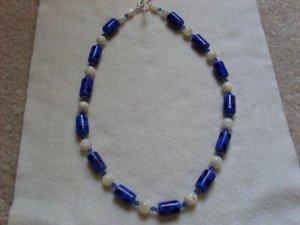 Blue Dot Bead Necklace  - DZbd