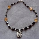 Onyx and Silver Bead Necklace  - DZon