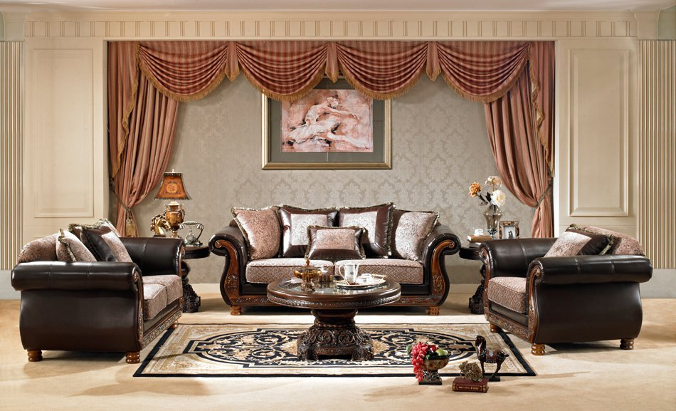 2pc Formal Traditional High End Luxury Sofa Love Seat