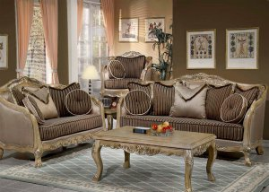 Superb 2PC Formal Traditional High End Luxury Sofa,Love Seat Living Room Set ZHD703