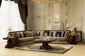 Charmant Formal Luxury Sectional Sofa Traditional Living Room Set ZHD461