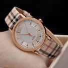 Analog Women Leather Band Stainless Steel Quartz Wrist Watches
