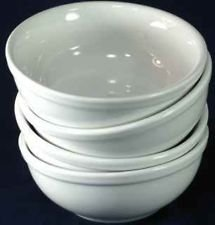 Crate and Barrel White 12pc Luncheon Set Made in Poland: 4 ea.: Salad Plates, Bowls, Mugs