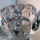 Royal Copenhagen Crystal Hand Cut Lotus Votive With Original Label Attached