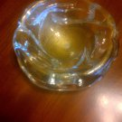 Vintage 1960s Murano Art Glass Lobed Bowl by Fratelli Toso With Original Paper Label