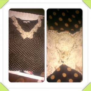 Nanette Lepore Fitted Silk Cap Sleeve Blouse With Ivory Handmade Lace Detail Size 4 Retail $185