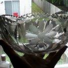 American Brilliant Intaglio Cut Glass Bowl