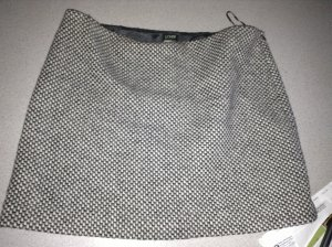 J.Crew Wool Blend Slub Weave Gray & White Skirt (Hits Just Above the Knee) Size 12